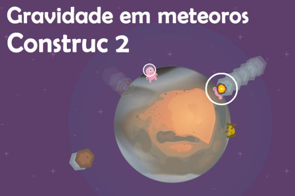 Mecânica de gravidade em meteoro no construct 2